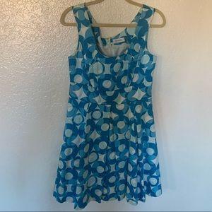Blue patterned Calvin Klein Dress